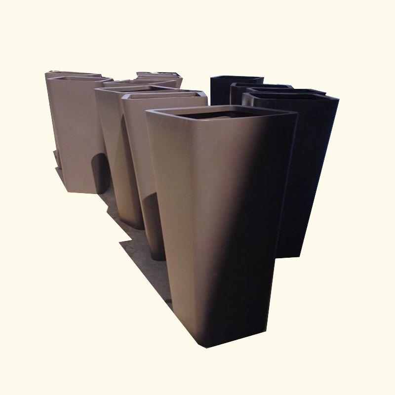 异形组合不锈钢花盆 园林景观装饰 圆形长方形大厅花钵树箱