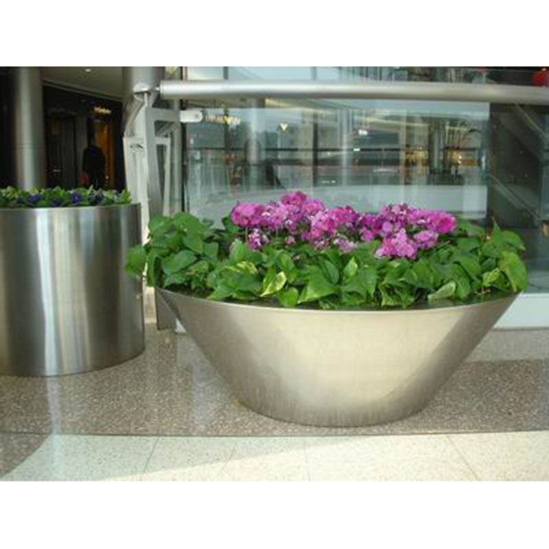 金属不锈钢花盆花箱 园林绿化户外花坛不锈钢