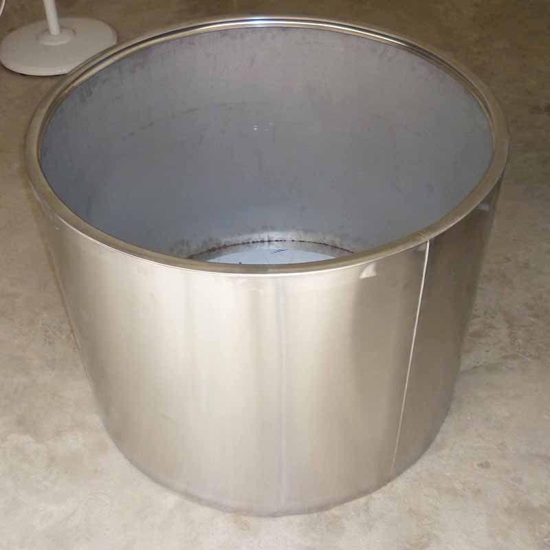 定制广场绿植白色烤漆碗状不锈钢花盆