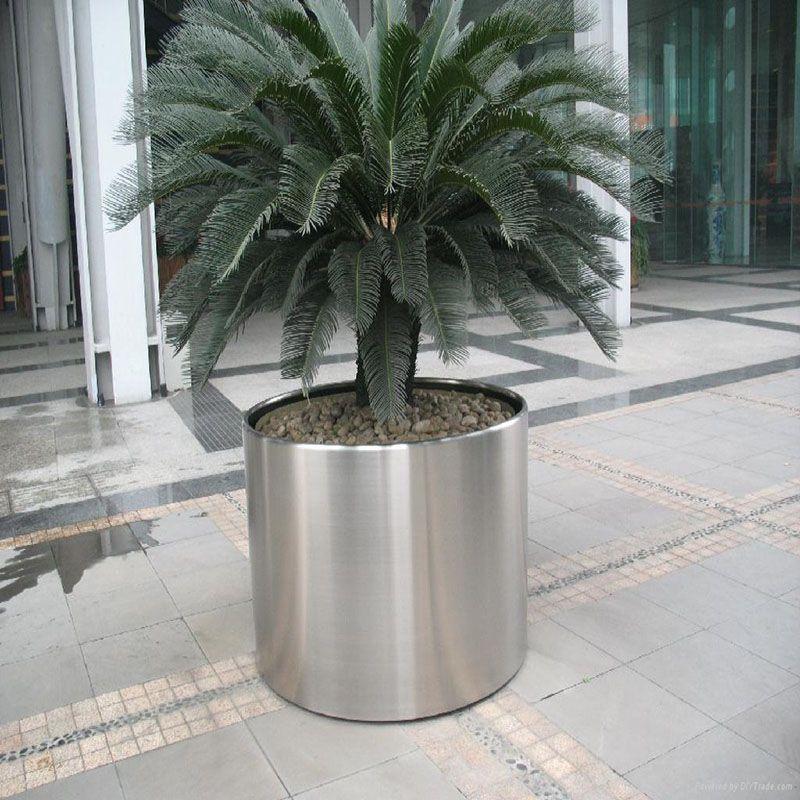 批发定制方柱形不锈钢花盆组合创意不锈钢花钵花箱