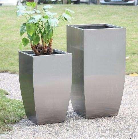 工艺品不锈钢花器花钵/不锈钢异形花箱
