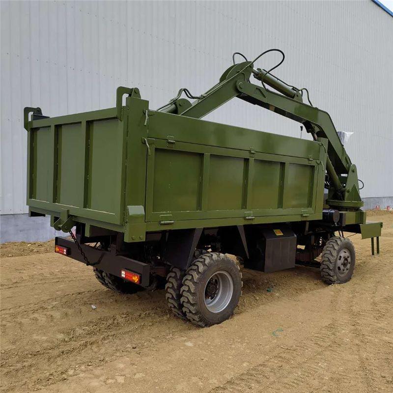定做随车挖 带钩机四不像车 河道清理自卸随车挖厂家