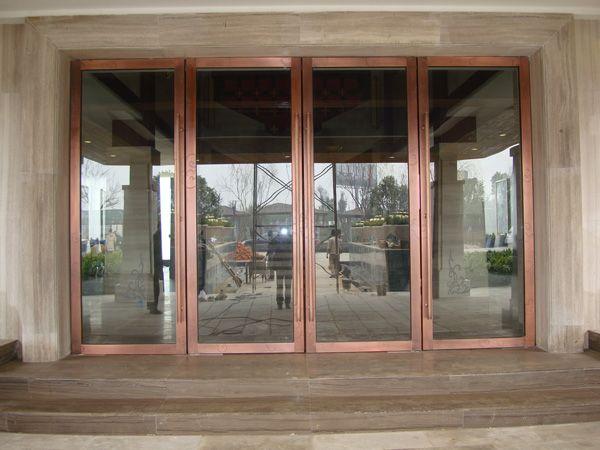 白色双层不锈钢屏风门 白色不锈钢屏风 田园风店铺适用大门