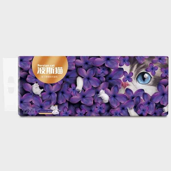 波斯猫紫丁香卷纸
