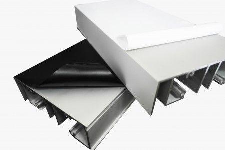 常州净化板保护膜  12公分型材门窗黑白膜高粘10丝