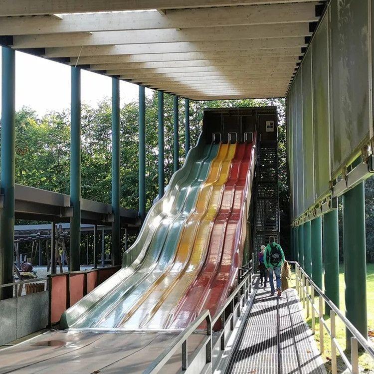 戶外不銹鋼滑梯定制 商場兒童滑滑梯 公園非標大型游樂場設備