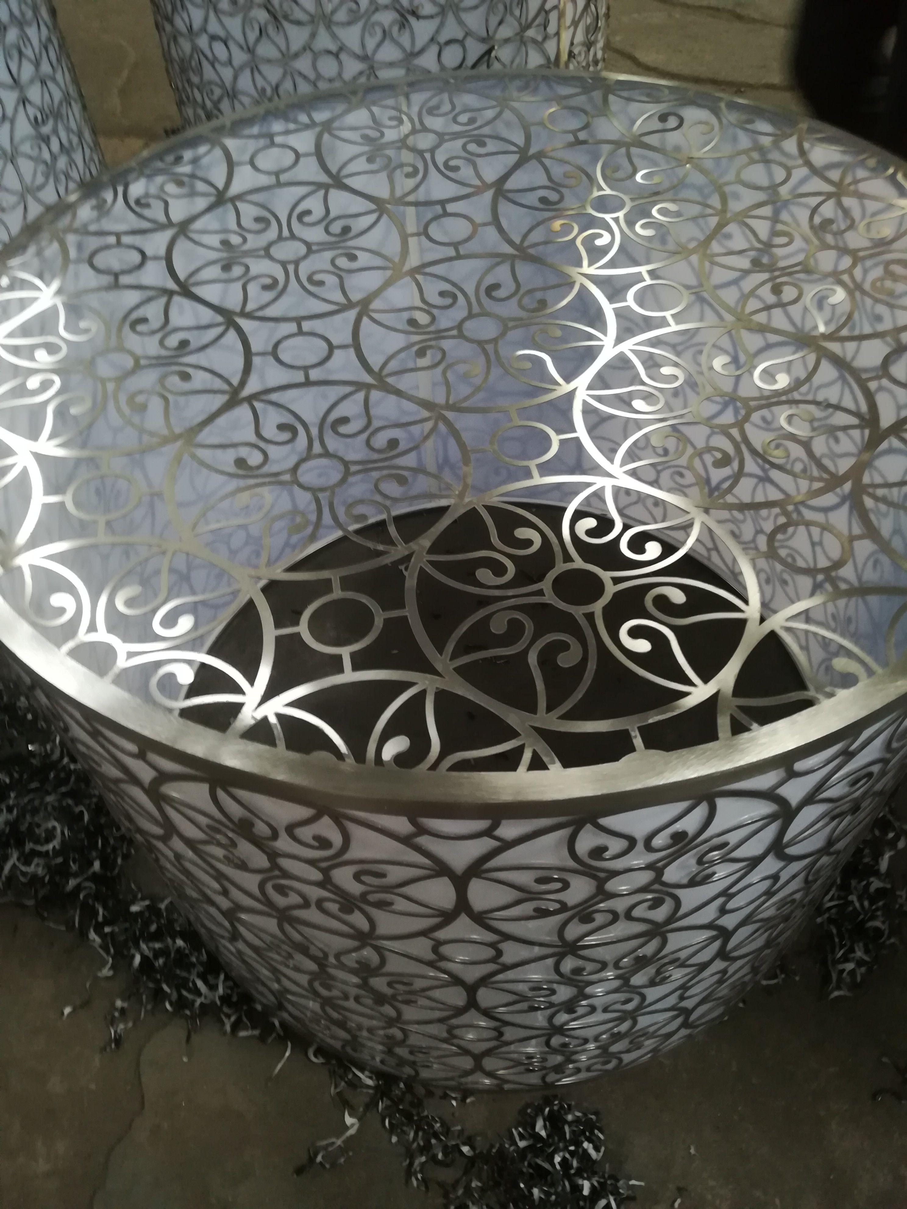 304不锈钢花盆 商场不锈钢花盆容器
