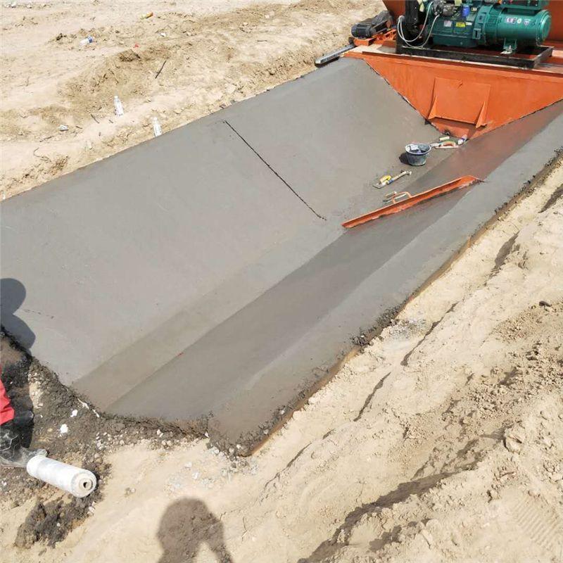 现浇式水渠成型机 建筑排水沟水渠成型机 混凝土全自动水渠成型机