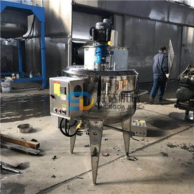 3吨不锈钢凝胶真空搅拌罐上掀盖防冻液搅拌釜三层保温配液罐