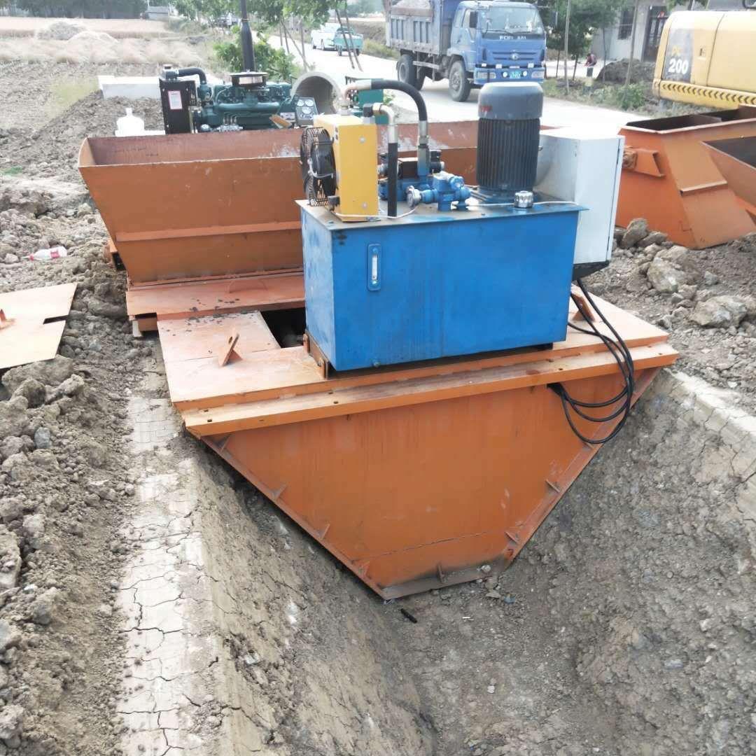 现浇式液压自走水渠成型机 渠道衬砌滑膜一体机 排水沟成型机