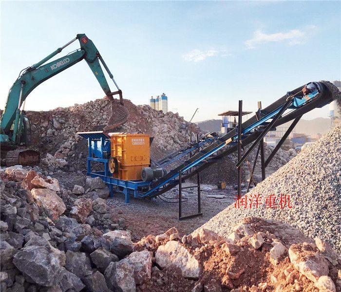 顎式破碎機 玉溪 生產線 風化石鵝卵石制砂移動破碎站
