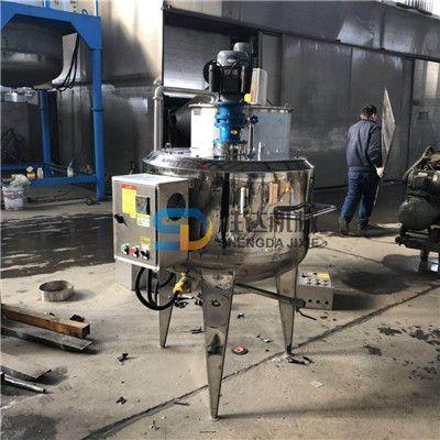 框式不锈钢液体搅拌罐苹果醋发酵加热缸5吨法兰式密封反应釜