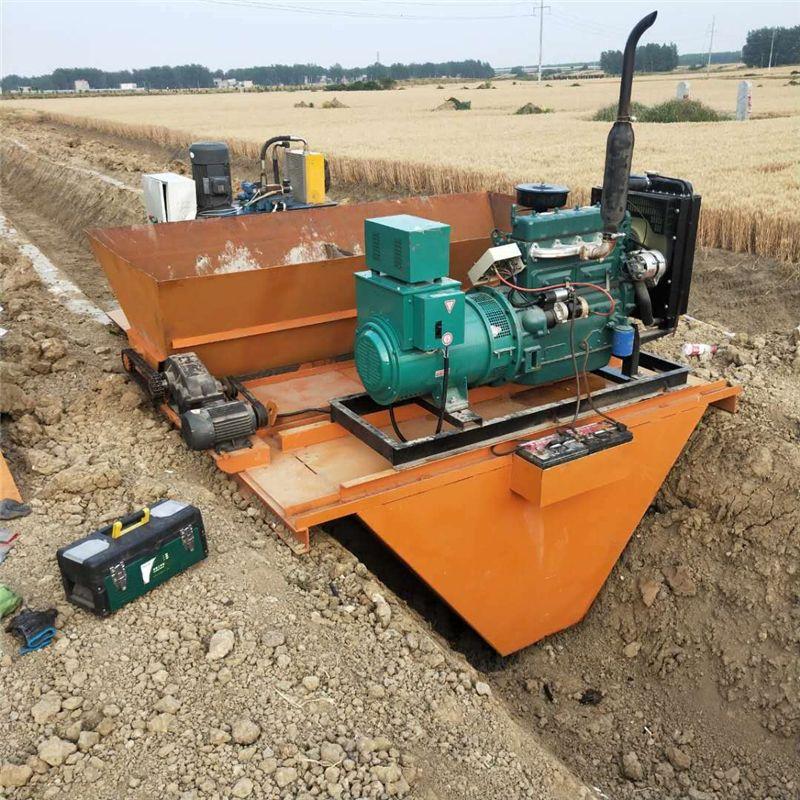 一次成型机 灌溉水渠道滑模机 排水沟衬砌机 自走式水渠成型机