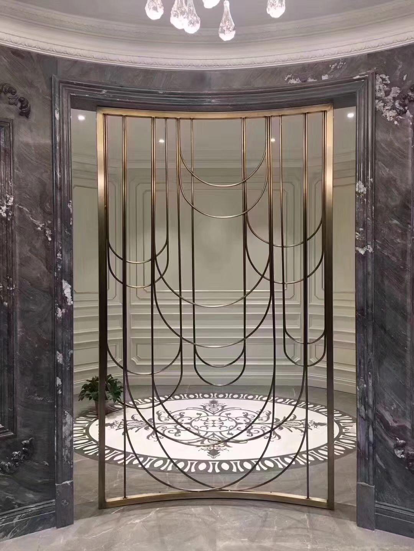 不锈钢屏风定制 不锈钢双色屏风 酒店不锈钢专用屏风