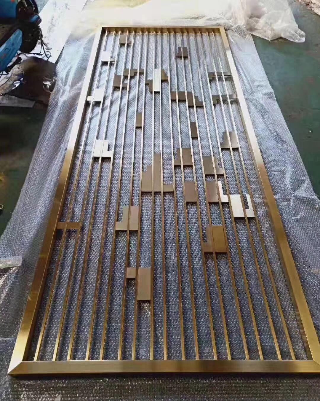 深圳高级酒店装饰 专用不锈钢屏风 304不锈钢屏风隔断