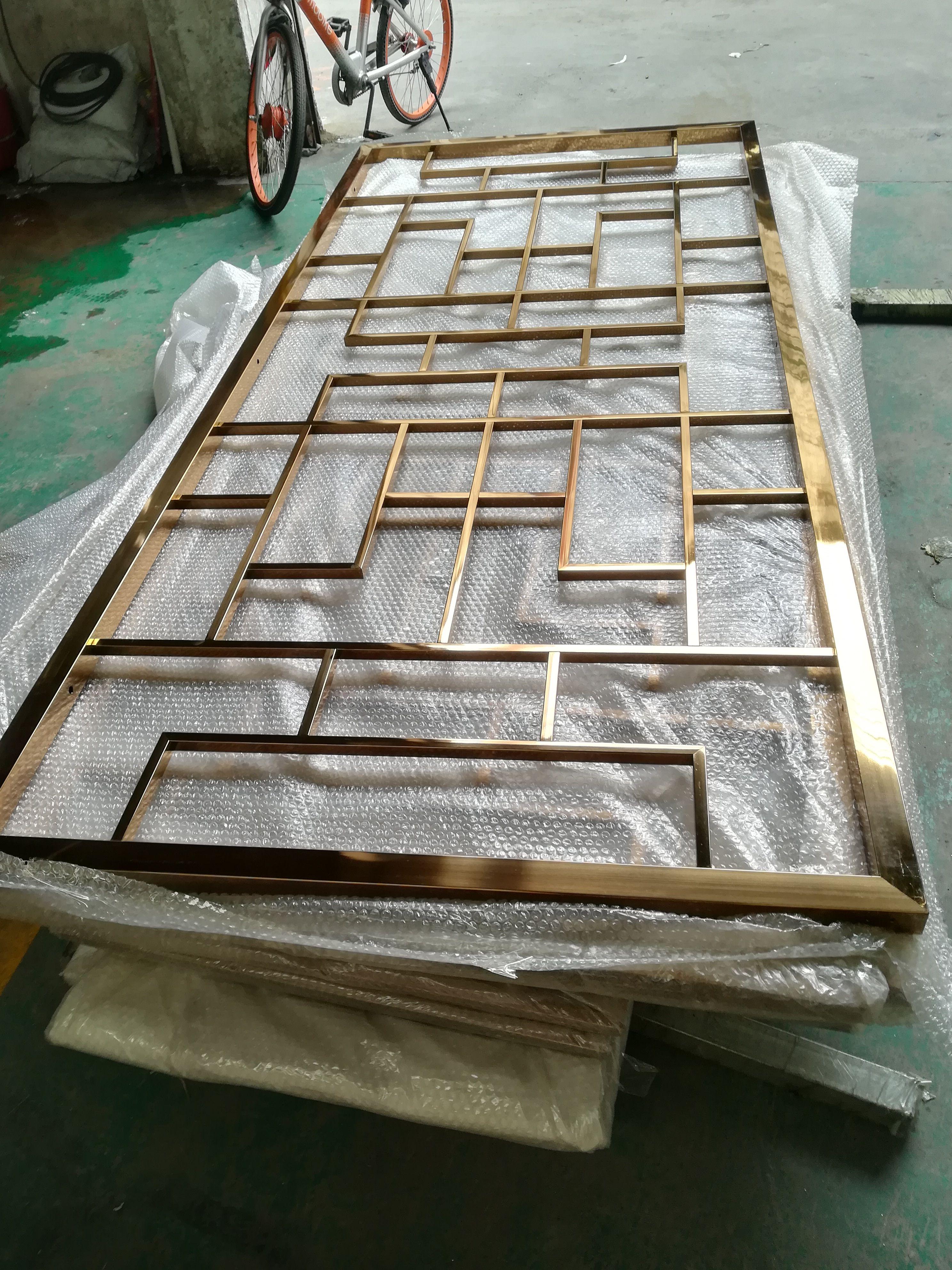 知名厂家不锈钢屏风,不锈钢激光镂空红古铜屏风
