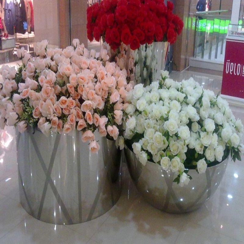 园林园艺不锈钢花盆组合 异形不锈钢花盆组合 不锈钢花盆组合