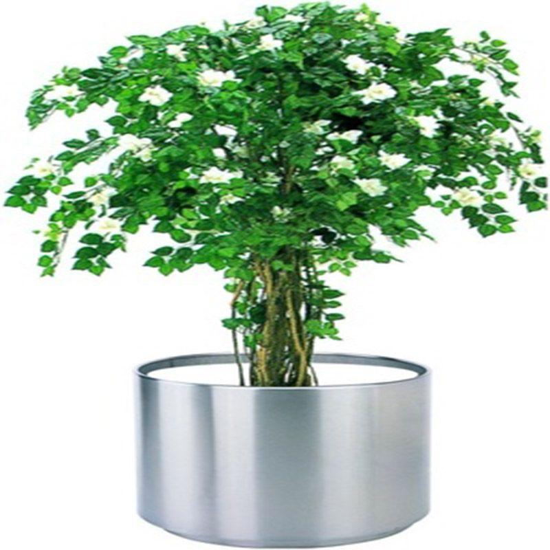 不锈钢花盆套装组合家庭园艺绿化工程摆件不锈钢花盆大花盆批发