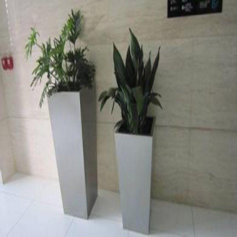 大型地产楼盘不锈钢花盆 造型不锈钢花盆定做