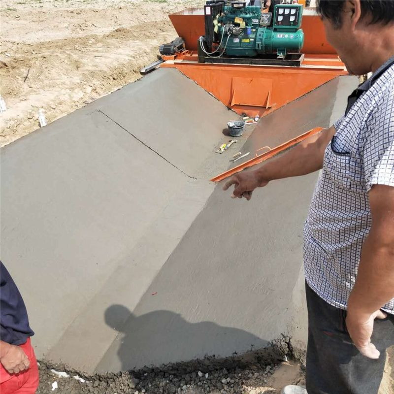 排水沟水渠成型机 阶梯渠道成型机 液压自行走一次性成型机