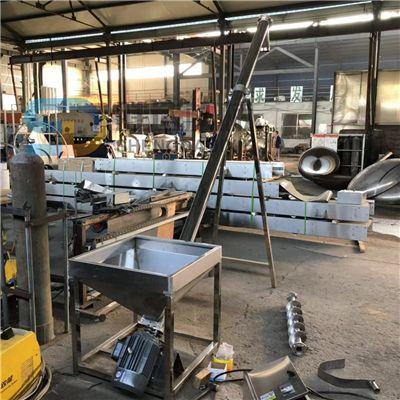 304不锈钢提升机大米豆子粮食蛟龙输送机可移动式金属粉末上料机