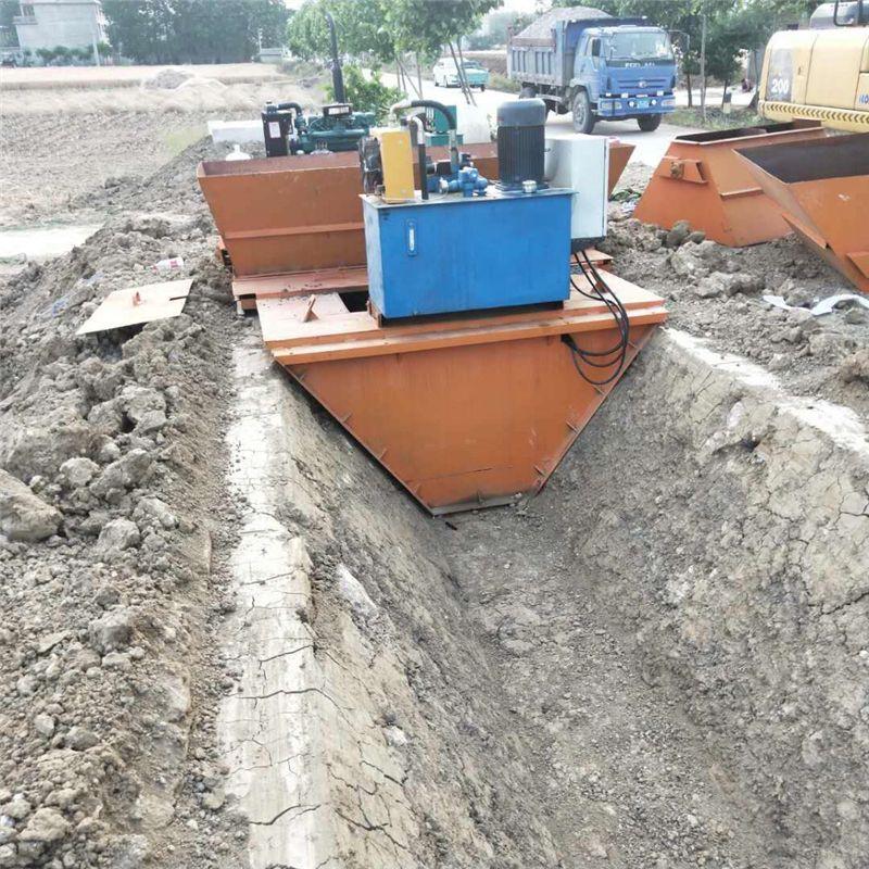 农田现浇式水渠成型机 一次性渠道衬切机 优质厂家水渠成型机