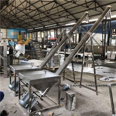 不锈钢螺旋上料机6吨粉料螺旋提升机304不锈钢螺旋输送机塑料颗粒提升机