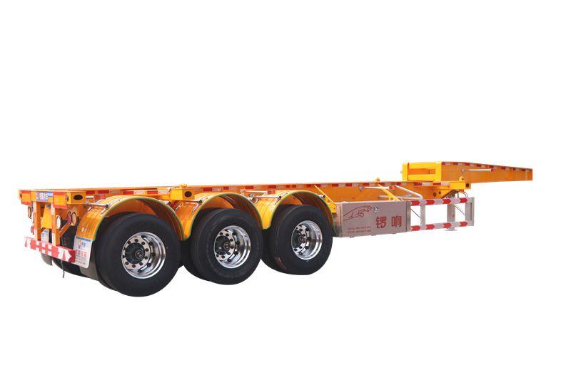 鑼響20英尺骨架車 鵝頸骨架車 三軸集裝箱式骨架車