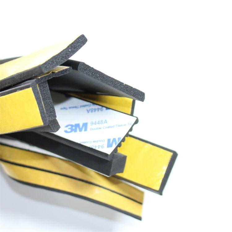 三元乙丙发泡密封条,配电箱柜EPDM自粘平板设备柜门防震胶条