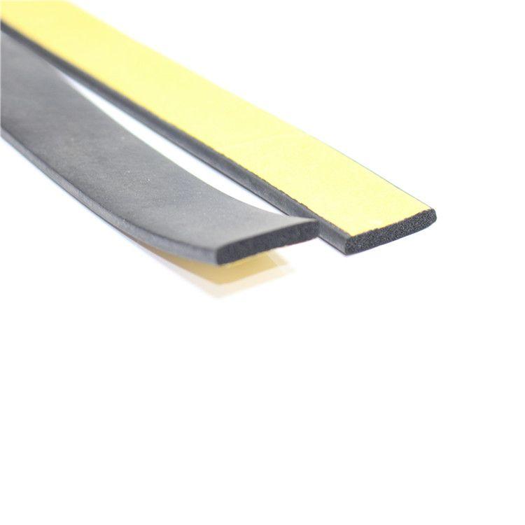 自粘海绵胶条 平板密封条 防撞条 三元乙丙发泡橡胶条