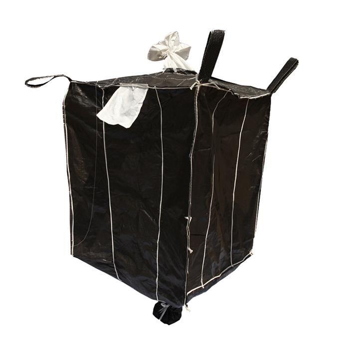 青岛吨包袋拉筋批发厂家平行托底加厚耐磨1吨黑色吨包污泥吨袋编织袋