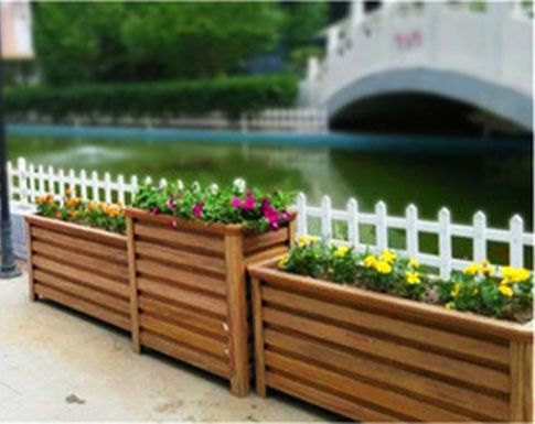 浅谈户外景观木制花箱制作流程与功能