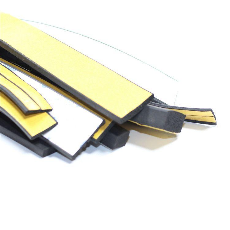 矩形型三元乙丙发泡自粘条 防撞隔音条橡胶密封条