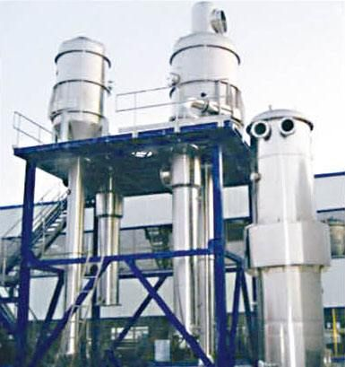 专业定制不锈钢多效降膜式蒸发器 立式单效浓缩真空蒸发器