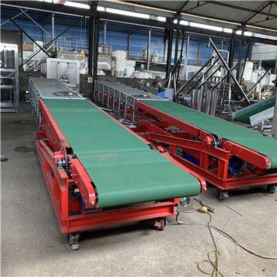 快递物流分拣输送机流水线装车卸货传送带车间皮带输送机