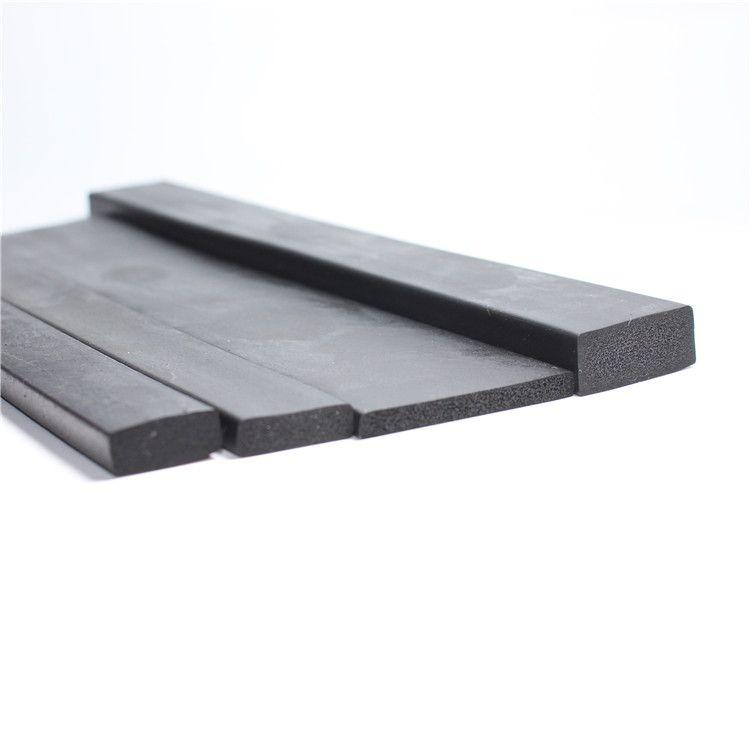 发泡胶条三元乙丙带胶海绵平板密封条EPDM防撞工业电箱电柜门密封条
