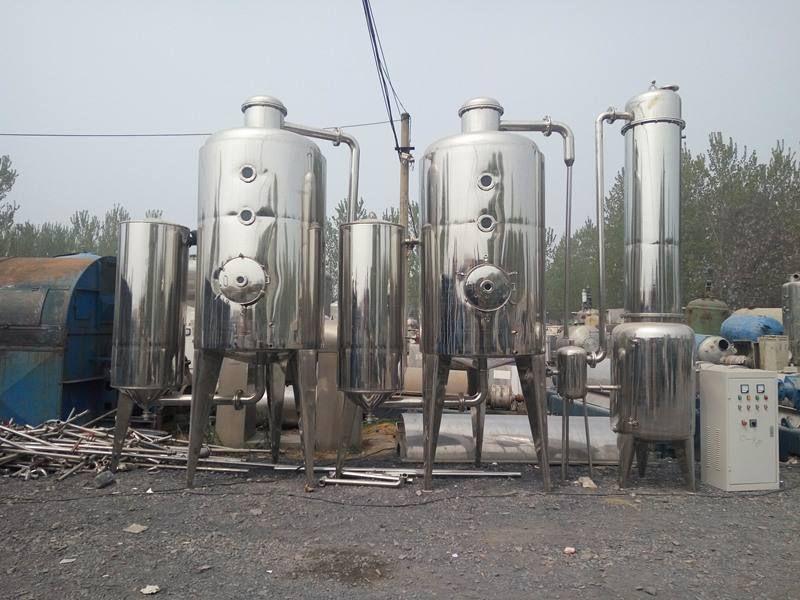 专业定做两吨三效蒸发器 多功能低温真空单效降膜蒸发器