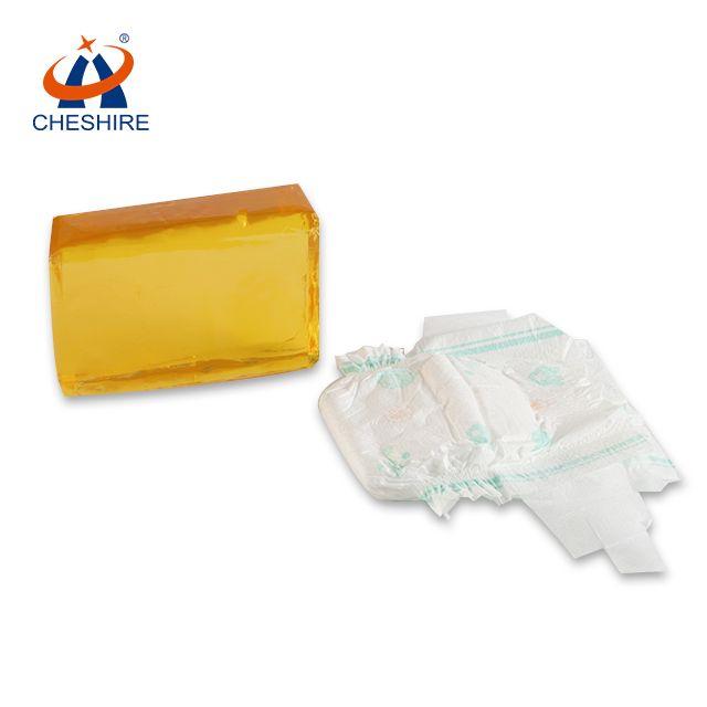 祺星熱熔膠剝離力大紙尿褲復合用結構膠黃色塊狀