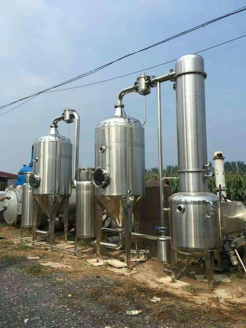 生产批发三效浓缩蒸发器 不锈钢多效降膜式蒸发器