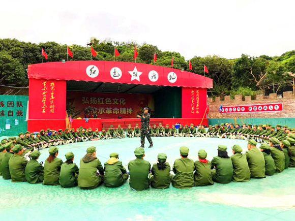 紅色教育團建黨建就來萬荔生態園