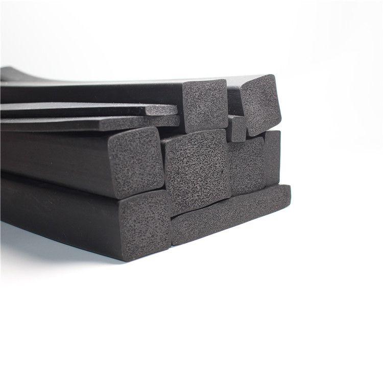 三元乙丙长方形密封条橡胶挤出发泡条EPDM矩形防撞海绵条