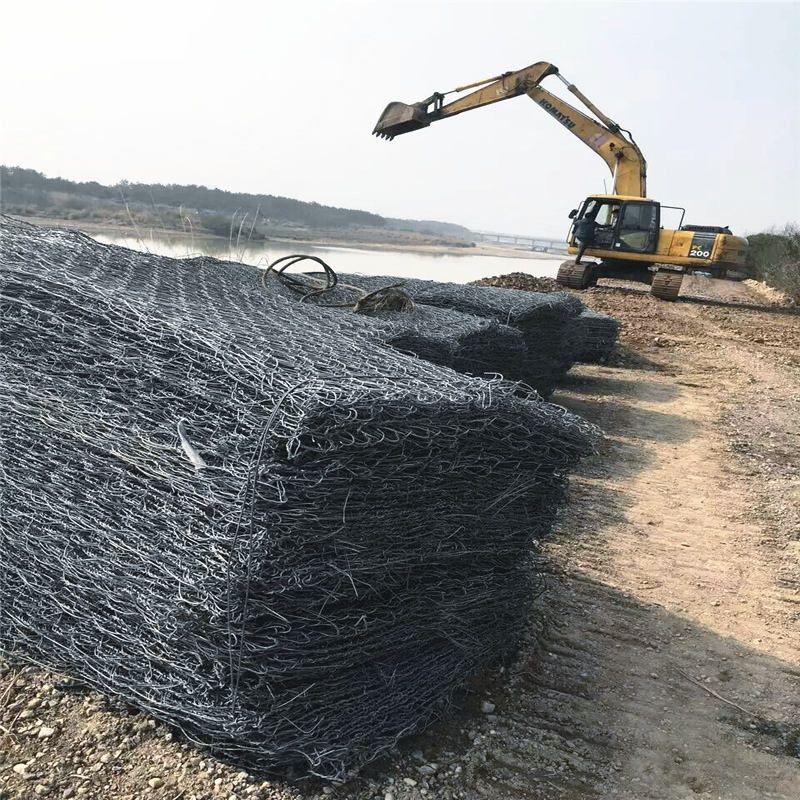 河道治理熱鍍鋅鐵絲籠廠家 免費提供堤壩石籠網 鉛絲石籠價格咨詢