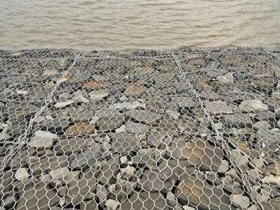 堤壩河道防洪擰編石籠網箱 鐵絲網石頭網兜 石籠網