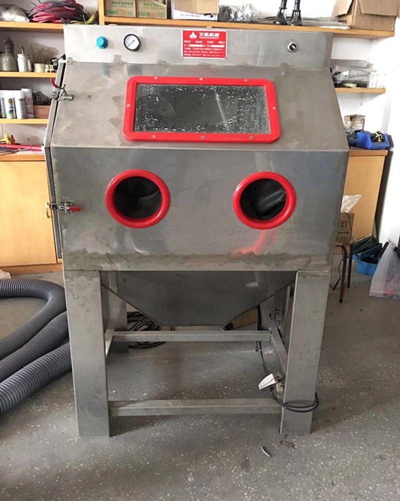 呼和浩特湿式手动喷砂机 水式无尘打砂设备 304不锈钢防腐材质