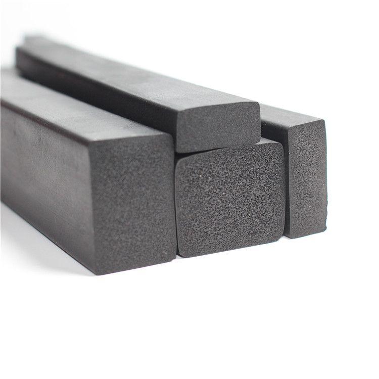 配电柜EPDM发泡橡胶条三元乙丙箱黑色平板橡胶发泡方条密封条