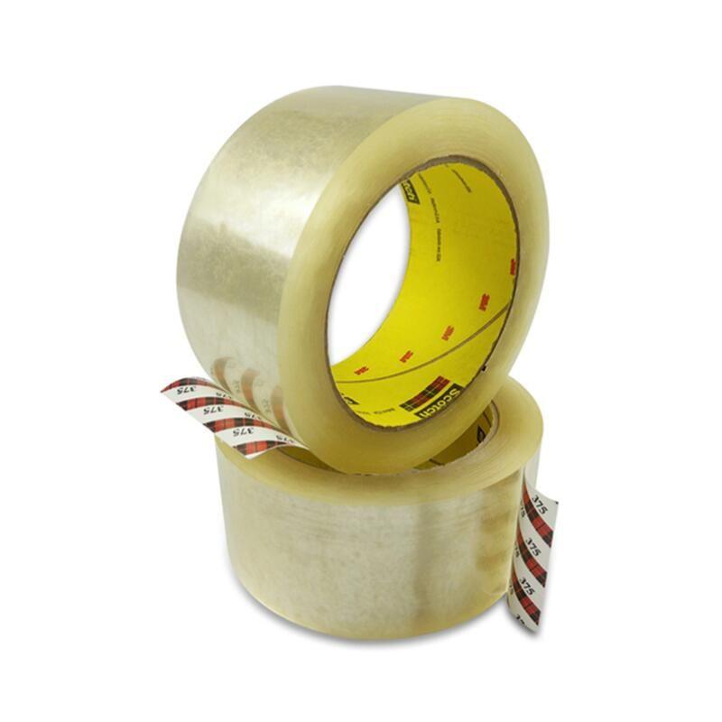 3M 375封箱膠帶不殘膠包裝膠帶 透明單面膠高粘重物捆綁固定膠布