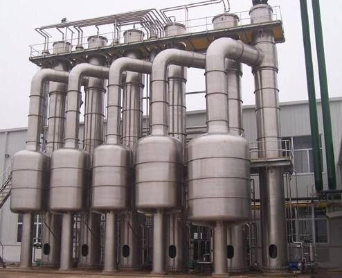 加工生产降膜低温浓缩蒸发器 强制循环四效蒸发器