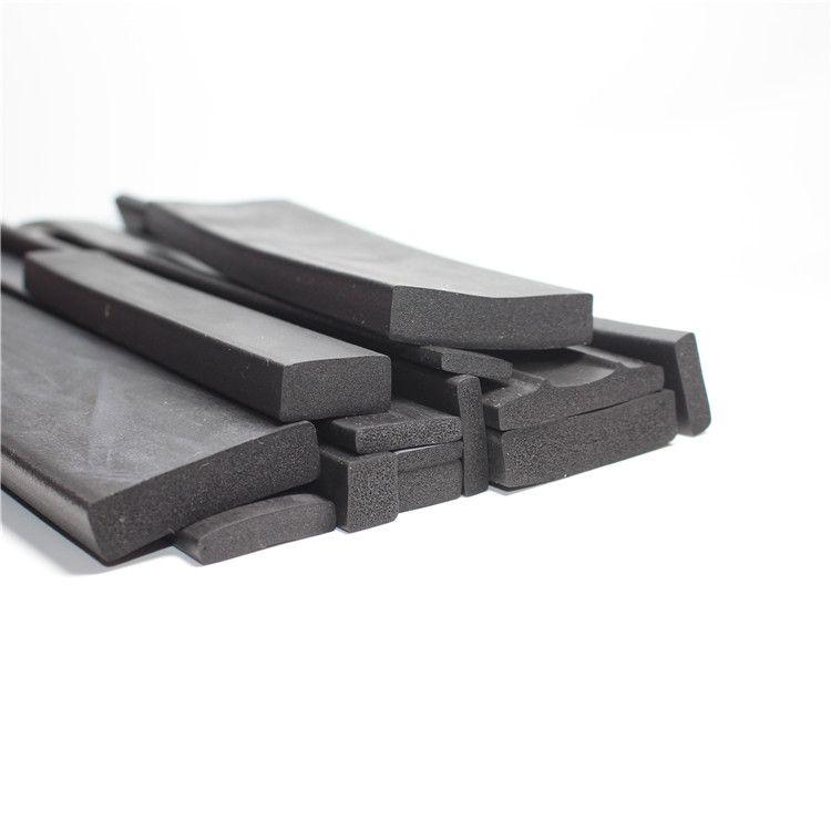 供应矩形发泡橡胶条三元乙丙发泡平板密封条