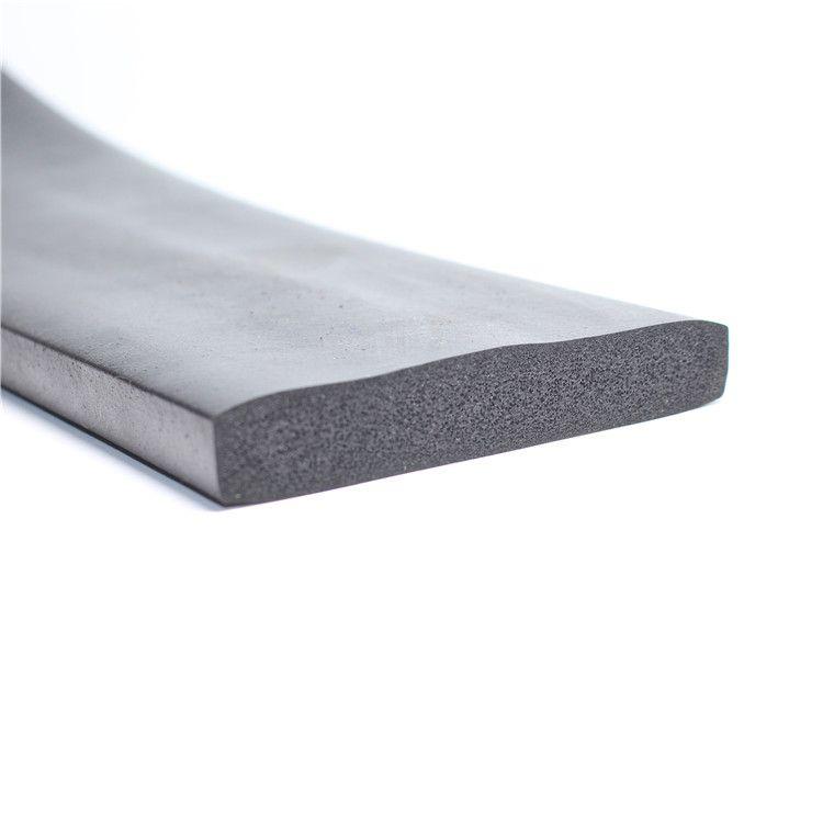 供应 矩形发泡橡胶条三元乙丙发泡平板密封条