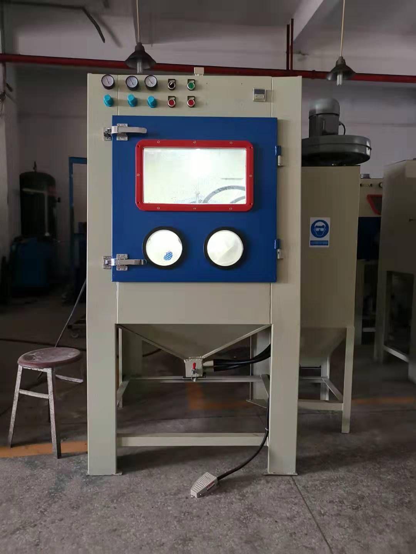 专业表面处理 滚桶自动喷砂机 西宁喷砂设备厂家出售